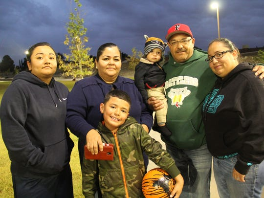 Vianney Rodriguez, left to right, Rosa Rodriguez, Marky Rodriguez, Jacob Rodriguez (baby), Albert Rodriguez and Iris Escalona.