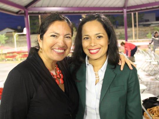 Yeseñia Castro, left, and city Rep. Claudia Ordaz.