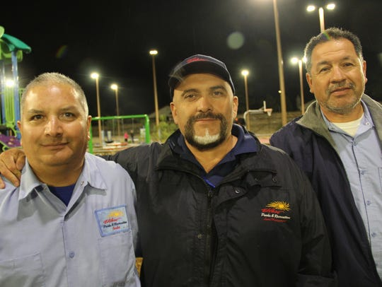Ramon Hernandez, left to right, Joe Canales, and Manuel