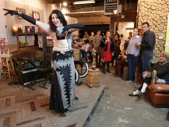 Jamila Ali, AKA Hips from Hell performs at Coal Coal Yard Coffee, and 5547 Project's one year anniversary 20's Speak Easy Party, Friday November 7th, 2015.