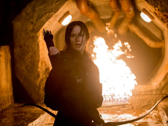 Jennifer Lawrence stars as Katniss Everdeen in 'The