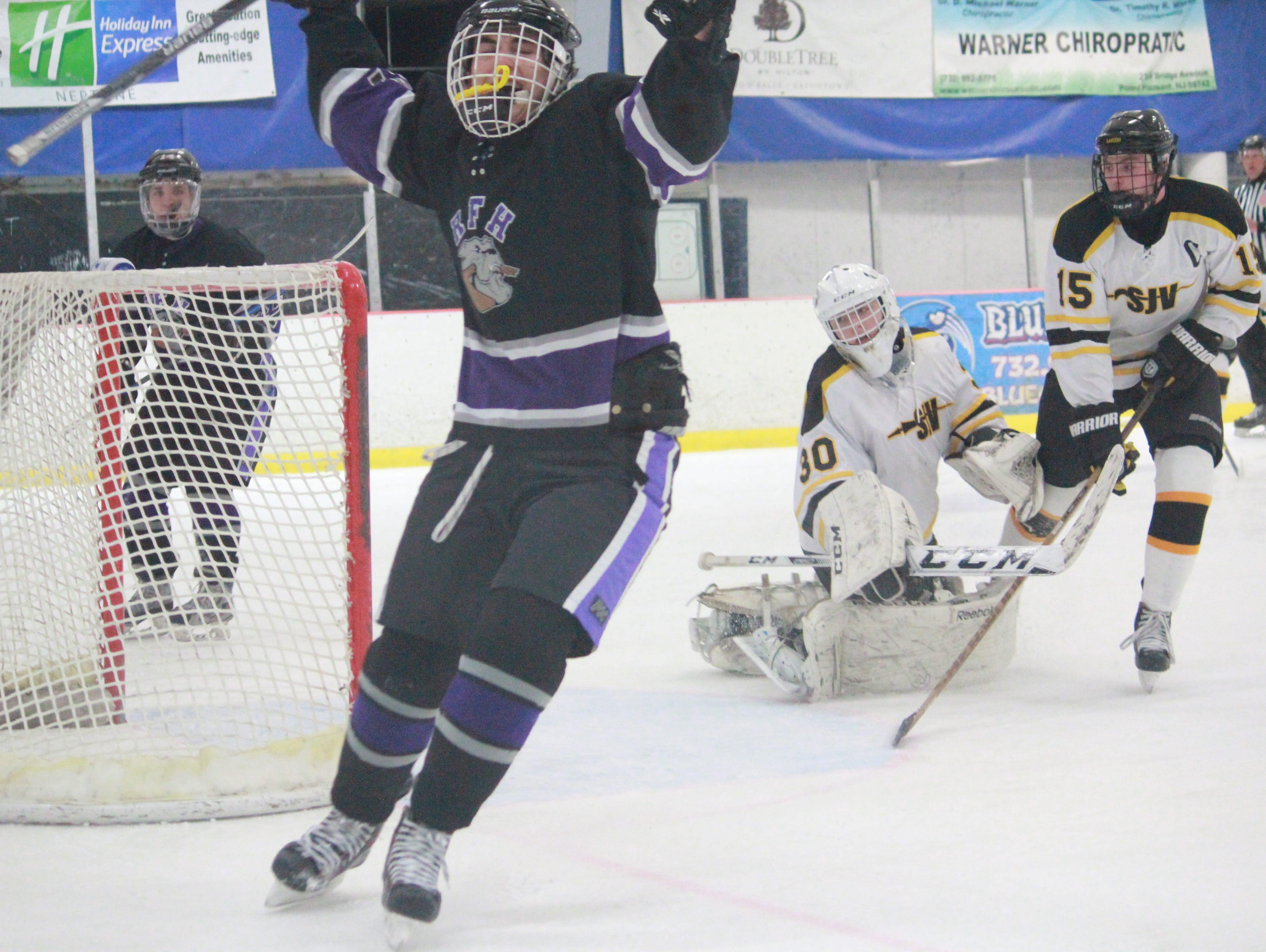 Conor Deverin of Rumson celebrates a goal