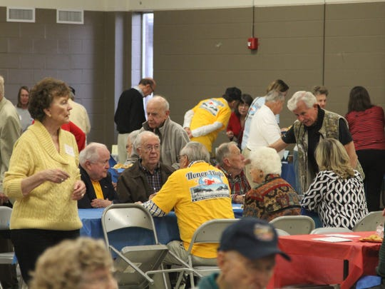 Honor Flight veterans gather for Wednesday night's