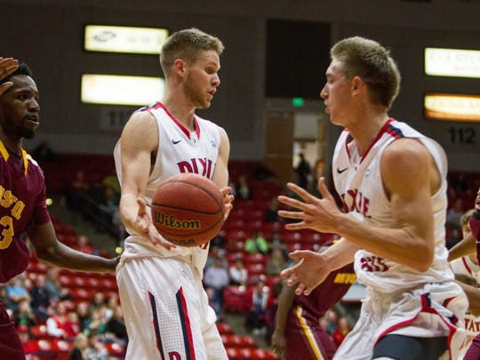 Dixie State plays against Bristol University in an exhibition game Thursday, Dec. 9, 2015.