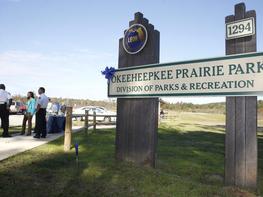 Leon County celebrated the grand opening of Okeeheepkee Prairie Park  on Thursday/ The 26-acre park features boardwalks with scenic overlooks and bird-watching spots.