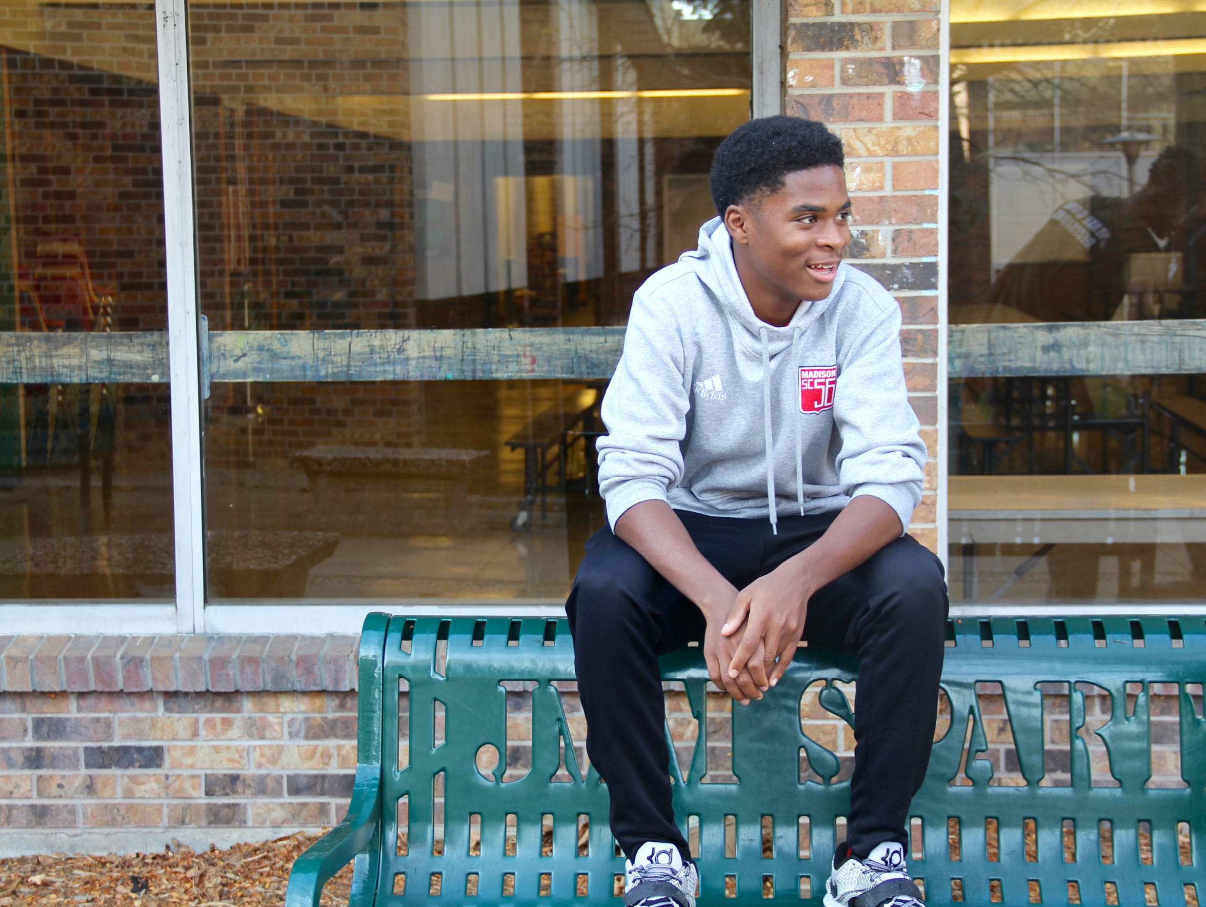 Odoi Lassey, a junior at Madison Memorial High School,