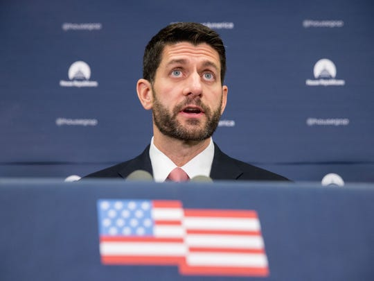 House Speaker Paul Ryan speaks at a news conference