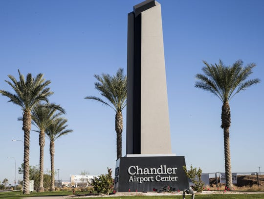 Entrance to the Chandler Municipal Airport.