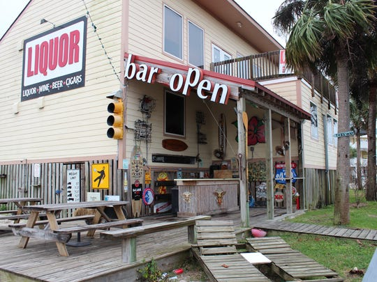 The Shaka Bar behind Aloha Wine & Spirits on Pensacola
