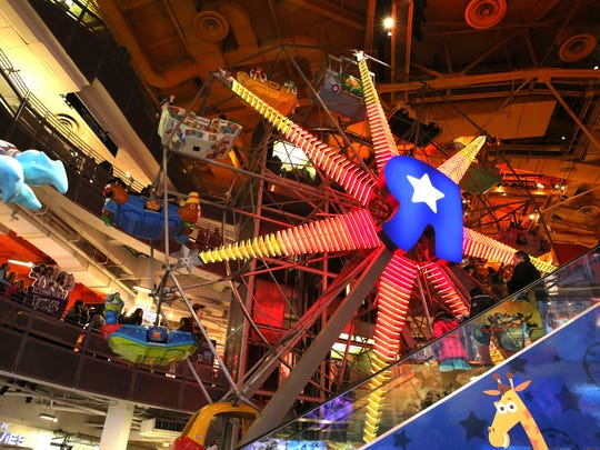 The Ferris Wheel at the Toys R Us store in New York's Times Square.