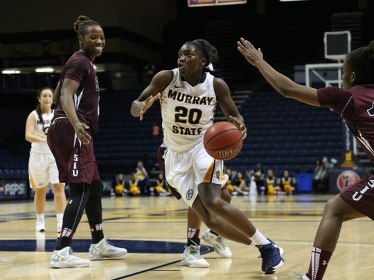 James, who scores many of her points driving to the basket, has led Murray State in scoring in nine of its 12 games so far this year.