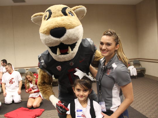 Washington State Mascot Butch T. Cougar with  Riley