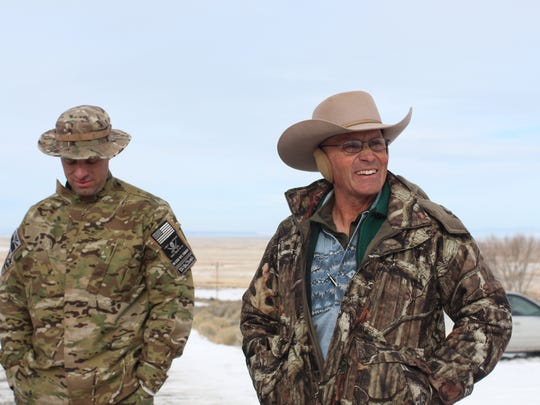 Blaine Cooper, left, and LaVoy Finicum, two of the