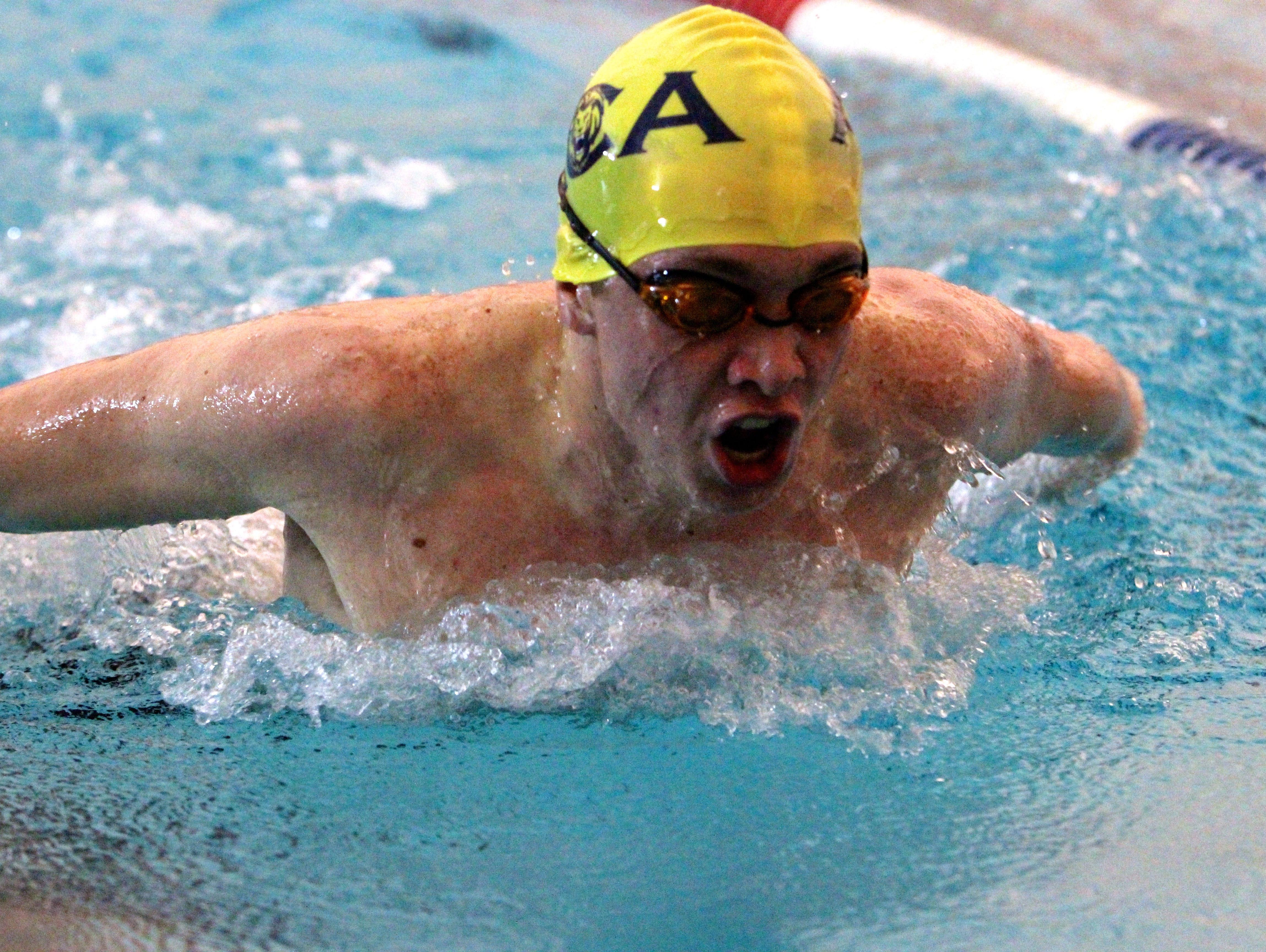 Asheville Christian Academy swimmer Chris Clark.