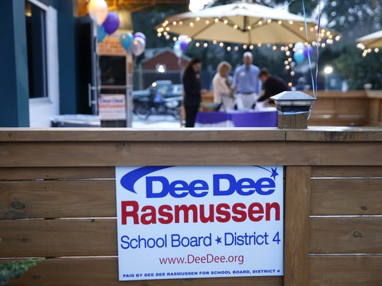 A party for Dee Dee Rasmussen, announcing her run for