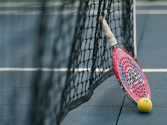 Paddle tennis tournament at the Tennis Club of Rochester.