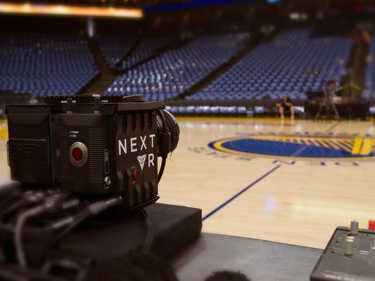 NextVR's cameras were set up at the Golden Gate Warrior's