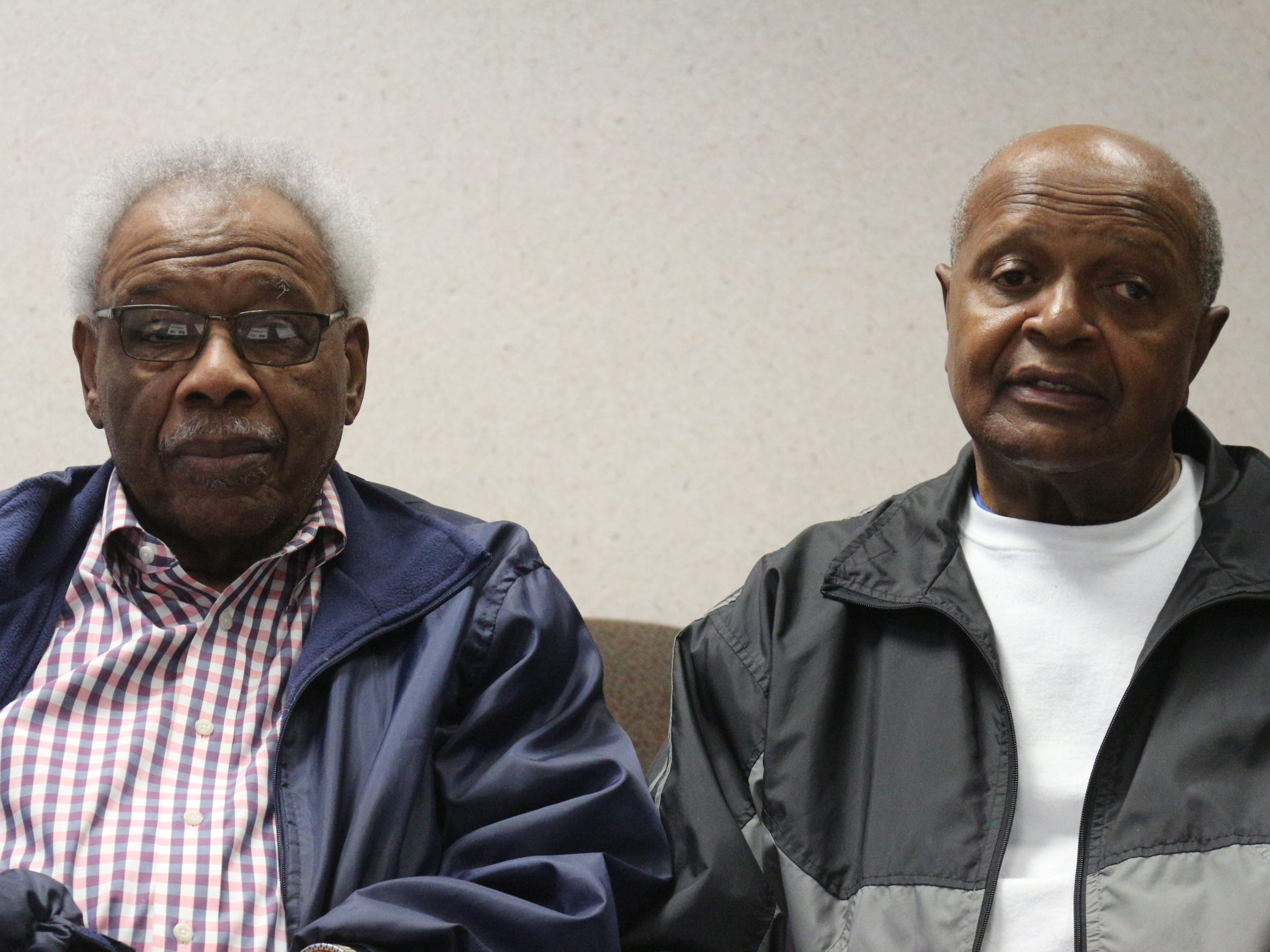 Joseph Roberts, left, and Hyburnia Williams both attended Burt High School as students and went on to serve as faculty in the school before it closed in 1970.