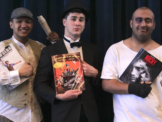 """""""Broadway Today"""" featuring, from left,  Karlos Saucedo, Joel Fisk, and Mario Ragazzone, includes excerpts from 18 musicals that played on Broadway in the past year, at 7:30 p.m. today at the ASNMSU Center for the Arts."""