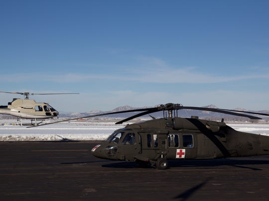 Members of the 211th Aviation Unit of the Utah National