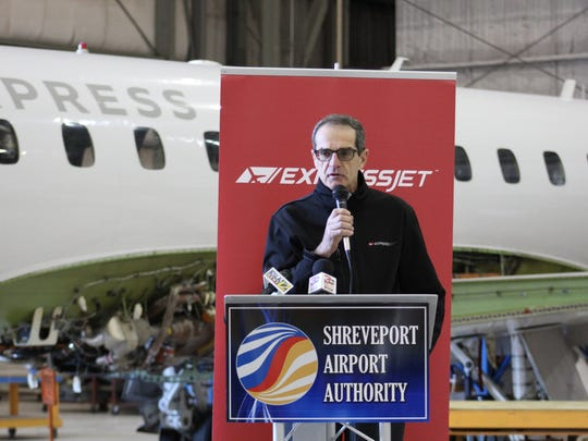 Bob Madigan, vice president of maintenance for ExpressJet Airlines, said he expects further growth from the new partnership during Thursday's press conference.