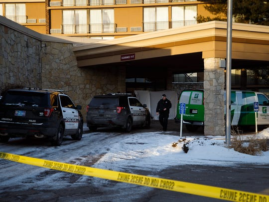 The scene were officers were called to a Holiday Inn in Urbandale on Saturday, Feb. 13, 2016.