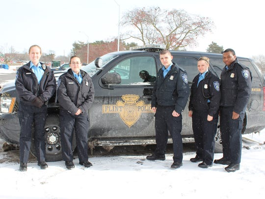 Port Huron police cadets delivered water Saturday,