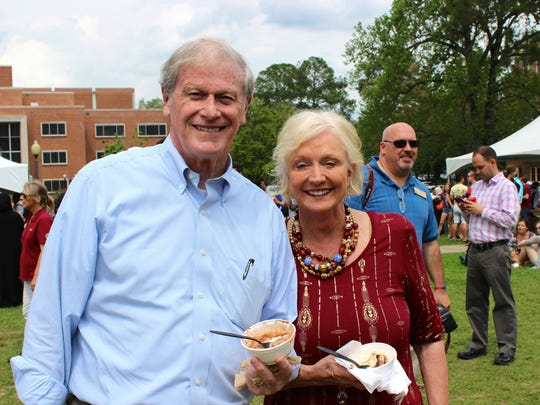 President Thrasher is known for his commitment to engaging with students, as seen here at the President's Ice Cream Social in April of last year.