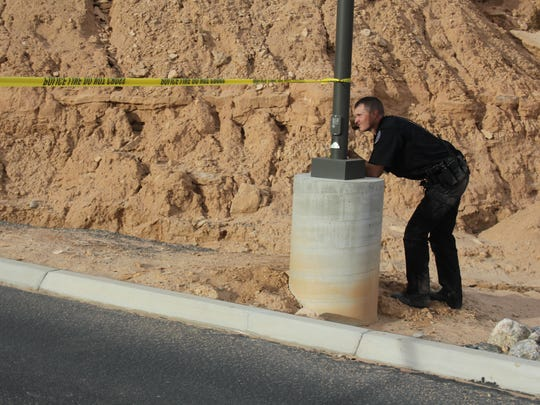 A Mesquite Police officer waited in a fake standoff for a training session on Wednesday.
