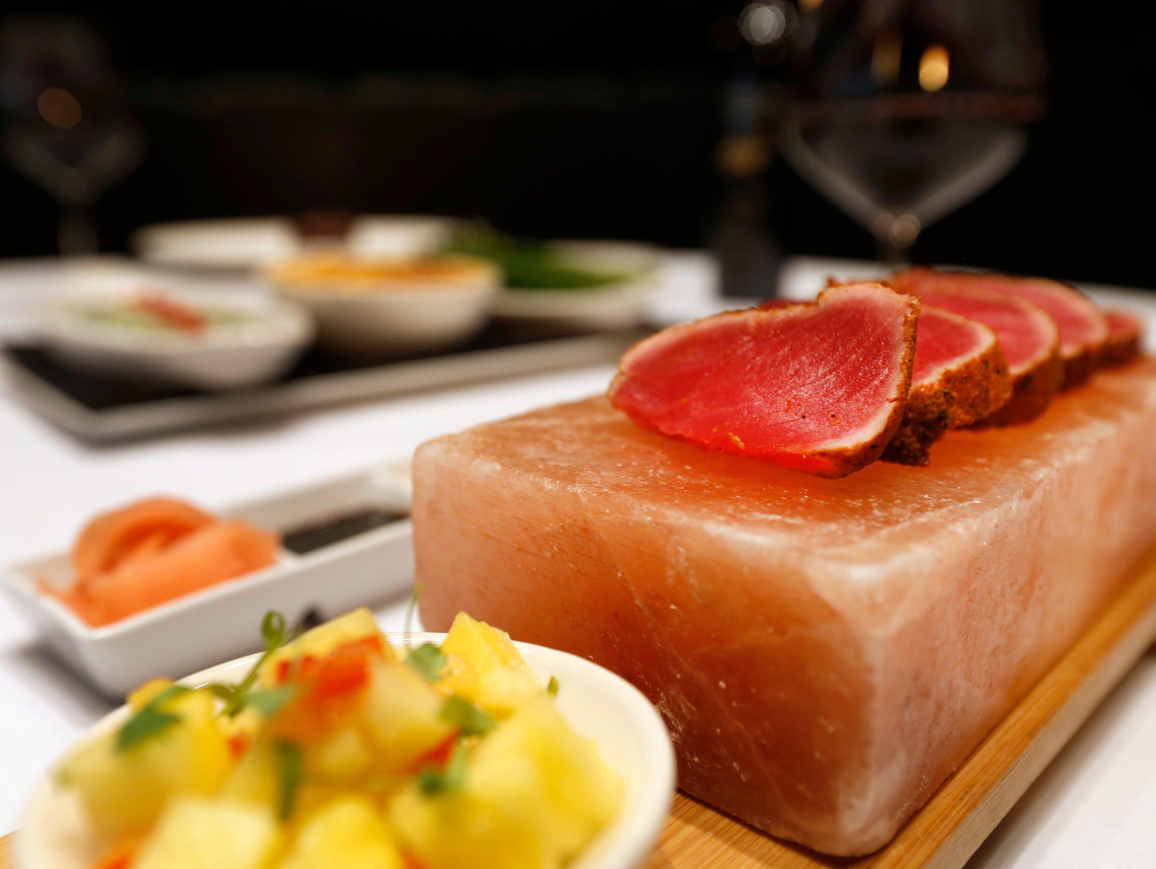 The Pan Seared Hawaiian Ahi Tuna at Level 2 Steakhouse