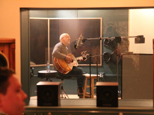 Pete Townshend recording at Waterford's 45 Factory on Friday night.