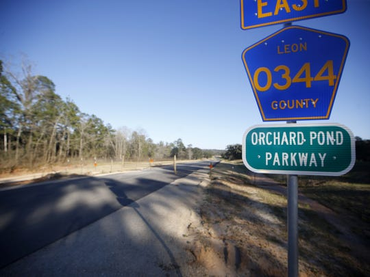 Orchard Pond Parkway — the first privately built toll road in Florida, is seen here under construction on Thursday, Feb. 25, 2016.  A bill would create recreational trails along the road.