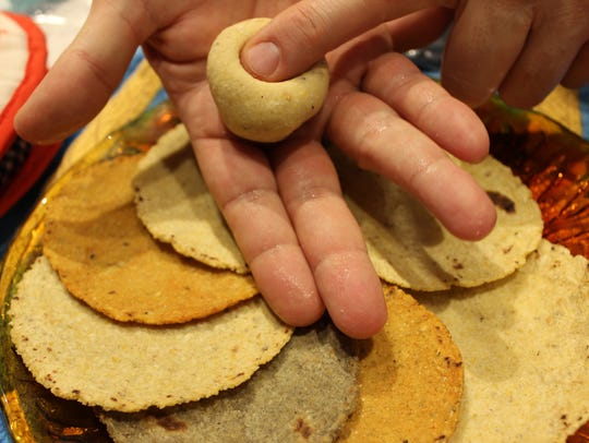 Azur Moulaert, co-owner of Vermont Tortilla Company,