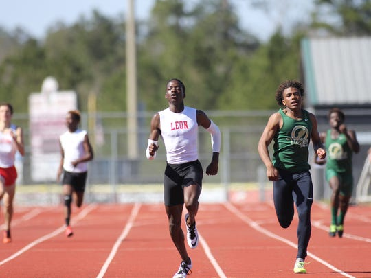 Leon junior Leander Forbes holds off for a win in the