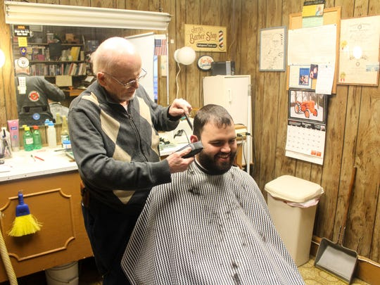 Jerry Foster, former owner of Jerry's Barber Shop in