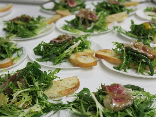 Seared tuna over arugula from Andrei's Restaurant at