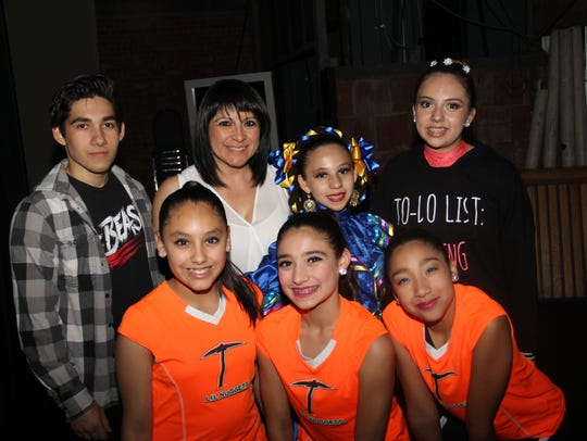 Left to right,.back row: Oscar Ricardo Vargas, Becky