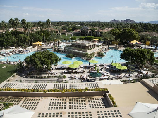 Phoenician resort, at the base of Camelback Mountain,