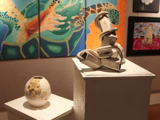 Clay sculpture by Chiles High School junior Sarah Koenitzer,