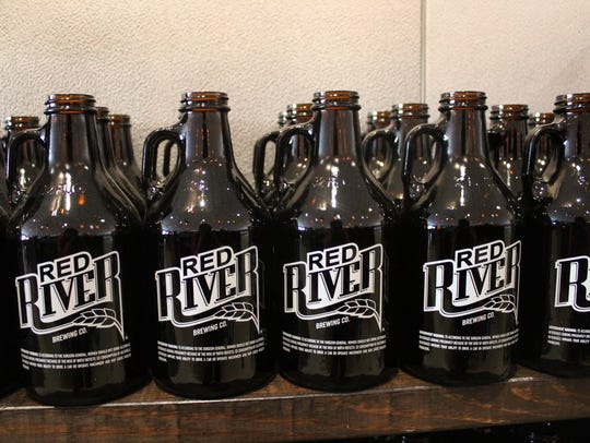 Growlers at Red River Brewing Company in Shreveport.