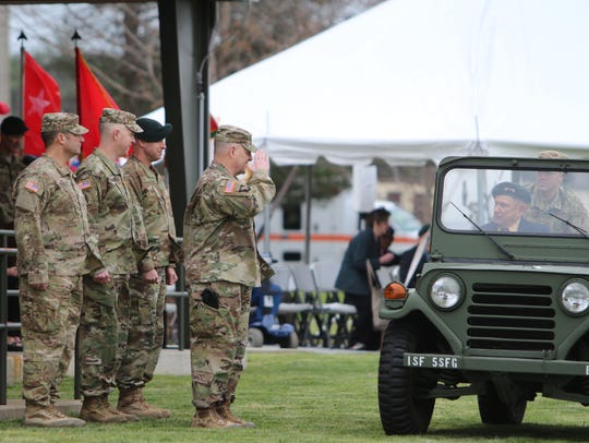 Gen. Mark Milley, chief of staff of the Army, salutes
