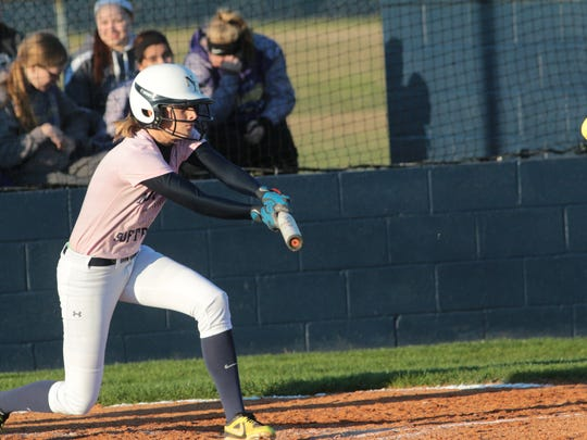 Northeast's Alex Myers lays down a bunt during the
