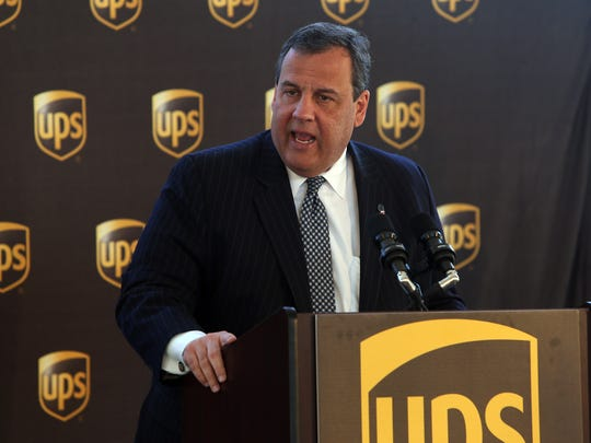 New Jersey Governor Chris Christie speaks before the groundbreaking for the new UPS Technology complex, a 200,000 square foot building sitting on more than 20 acres of land off Cherry Hill Road. March 29, 2016. Parsippany, N.J.