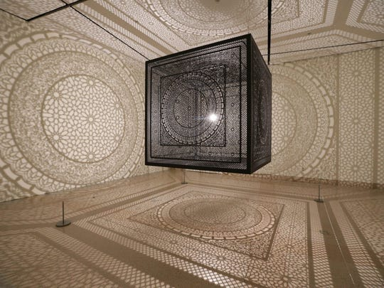 """""""Intersections,"""" an installation by Anila Agha."""