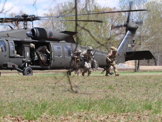 Soldiers with Fort Campbell's 3rd Brigade Combat Team