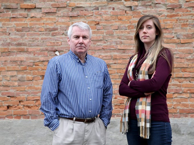 Democrat and Chronicle reporter, Gary Craig, and Veronica
