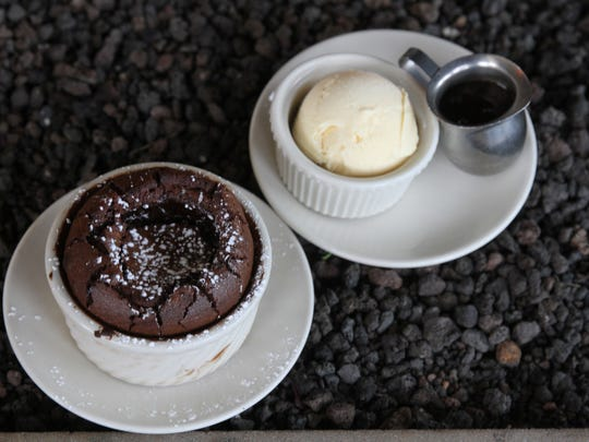 Chocolate souffle from Salt Creek Grille in Rumson.