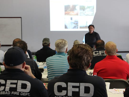 Members of Eddy County sit in on an emergency training