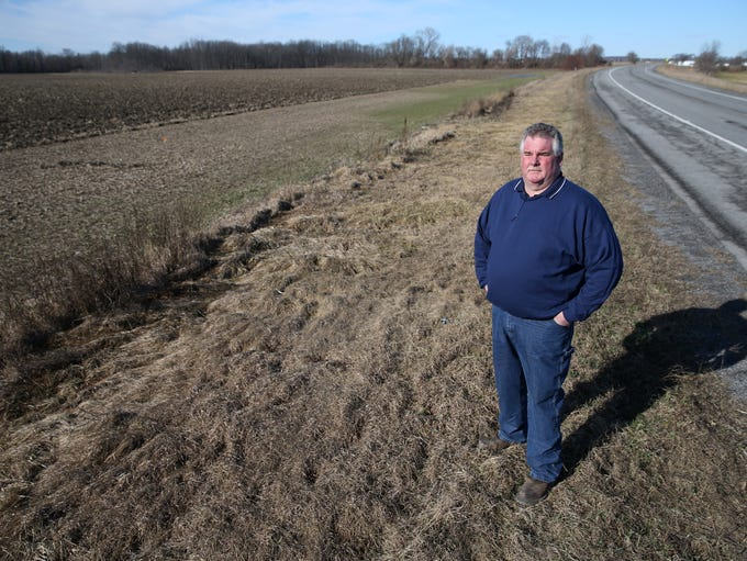 Wes Clements stands in a Caledonia field near the spot