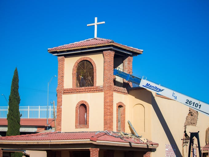 The San José Catholic Church bell and cross were removed